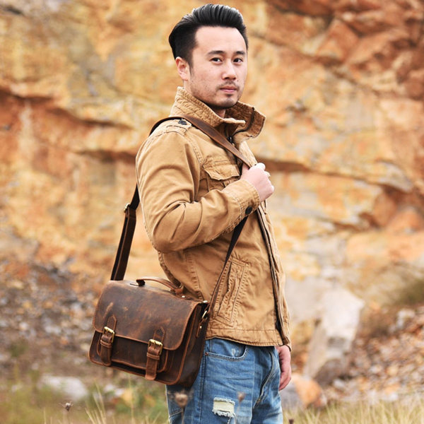 leather messenger bags & leather briefcase bags