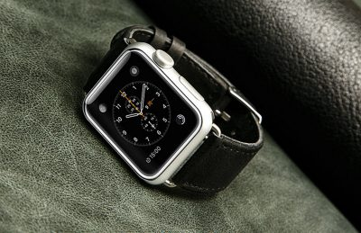 Black Apple Watch Band-Exterior