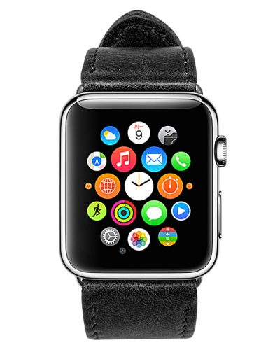 Black Apple Watch Band-Front