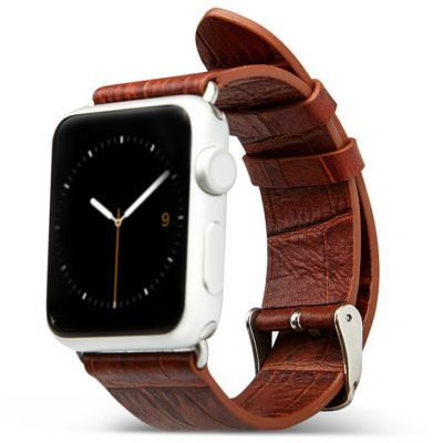 Brown Crocodile Pattern Apple Watch Band 38mm 42mm