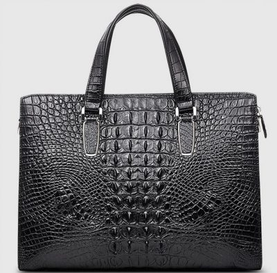Casual Genuine Crocodile Bag,Crocodile Laptop Bag for Men-Back