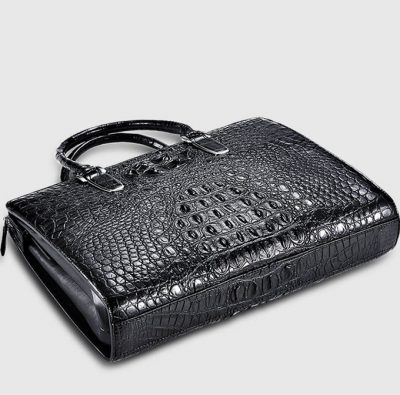 Casual Genuine Crocodile Bag,Crocodile Laptop Bag for Men-Bottom
