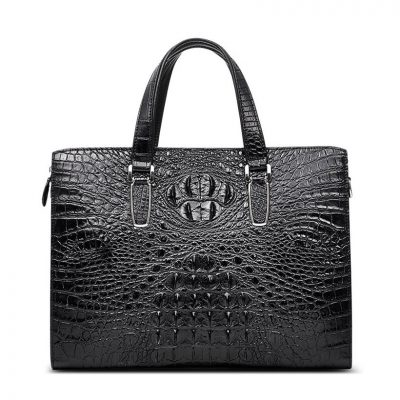 Casual Genuine Crocodile Bag,Crocodile Laptop Bag for Men-Front