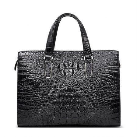 Casual Genuine Crocodile Bag,Crocodile Laptop Bag for Men-Front