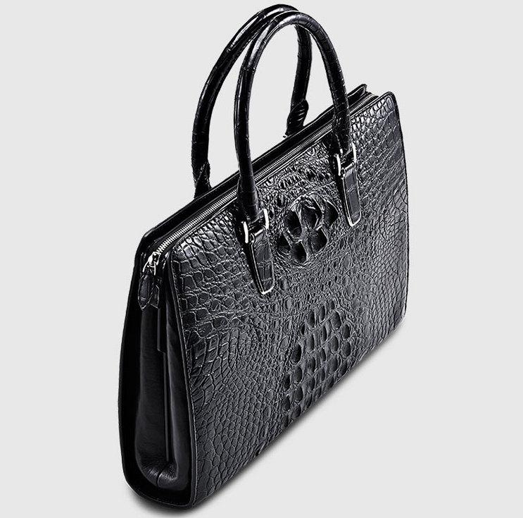 Casual Genuine Crocodile Bag Crocodile Laptop Bag For Men