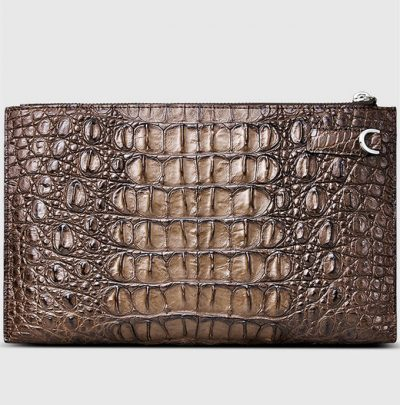 Casual Genuine Crocodile Wallet-Back