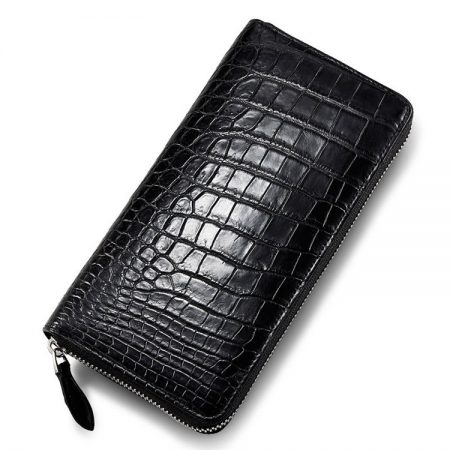 Classic Black Genuine Crocodile Wallet