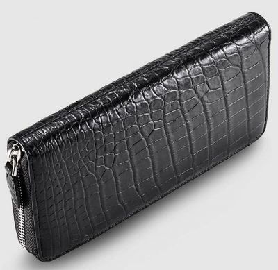 Classic Black Genuine Crocodile Wallet-Top