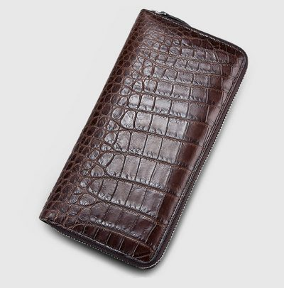 Classic Brown Genuine Crocodile Wallet