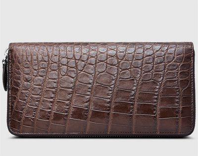Classic Brown Genuine Crocodile Wallet-Left