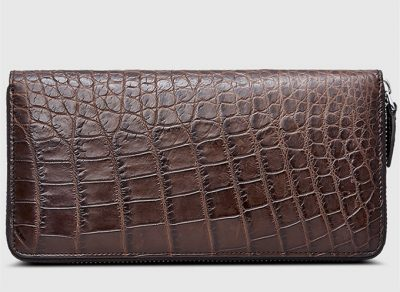 Classic Brown Genuine Crocodile Wallet-Right