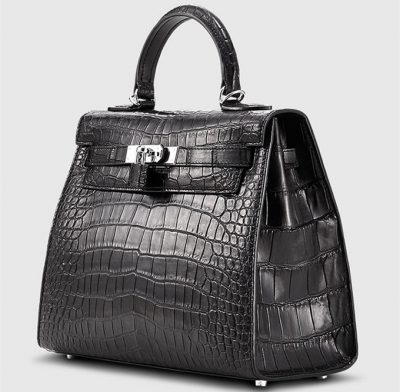 Crocodile City Bag, Crocodile Handbag-1