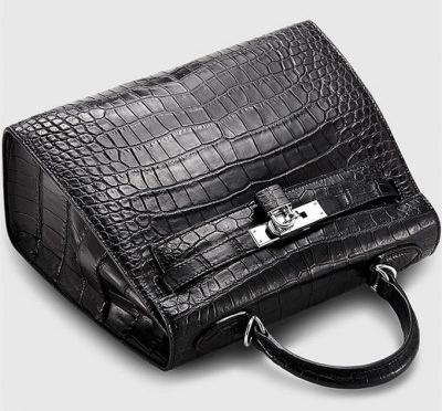 Crocodile City Bag, Crocodile Handbag-2