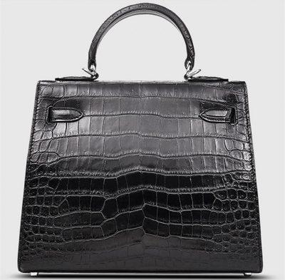Crocodile City Bag, Crocodile Handbag-Back