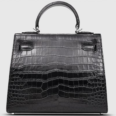 Crocodile City Bag, Crocodile Handbag-Back