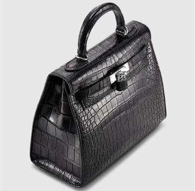 Crocodile City Bag, Crocodile Handbag-Top