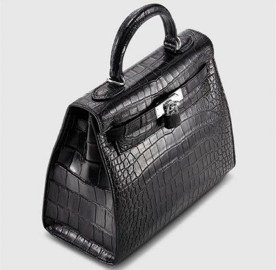 Crocodile City Bag, Crocodile Handbag-Top