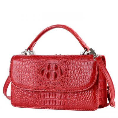 Crocodile Clutch Evening Bag, Handbag, Crossbody Bag