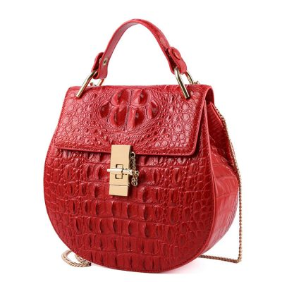 Crocodile Evening Handbag, Crocodile Wrist Bag-1