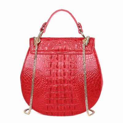 Crocodile Evening Handbag, Crocodile Wrist Bag-Back