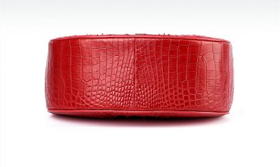 Crocodile Evening Handbag, Crocodile Wrist Bag-Bottom