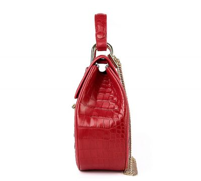 Crocodile Evening Handbag, Crocodile Wrist Bag-Side
