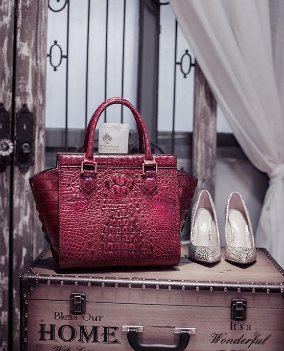 Crocodile Leather Handbags vs Caiman Leather Handbags