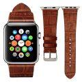 Dark Brown Crocodile Pattern Apple Watch Band-Sample