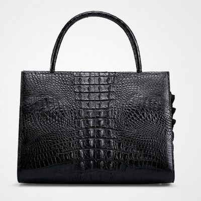 Elegant Genuine Crocodile Handbag-Back