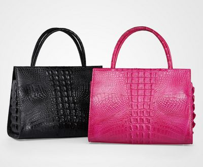 Elegant Genuine Crocodile Handbag-Exhibition