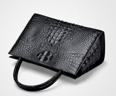 Elegant Genuine Crocodile Handbag-Top