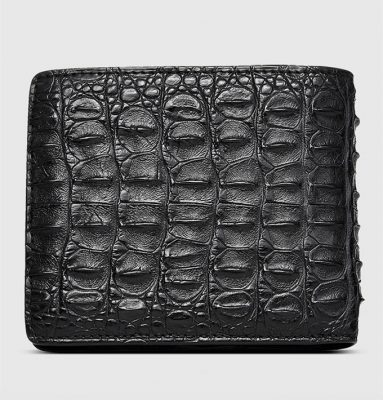 Fashion Bifold Genuine Crocodile Wallet-Back