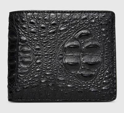 Fashion Bifold Genuine Crocodile Wallet-Front