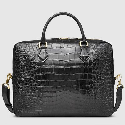 Fashion Crocodile Bag, Luxury Crocodile Briefcase for Men-Back