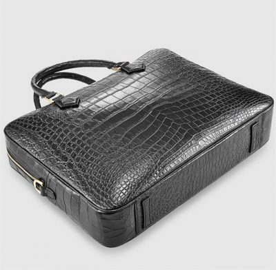 Fashion Crocodile Bag, Luxury Crocodile Briefcase for Men-Bottom