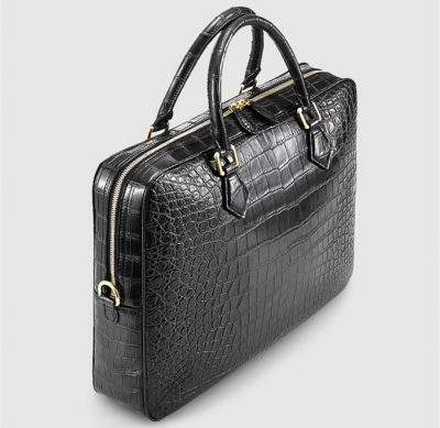 Fashion Crocodile Bag, Luxury Crocodile Briefcase for Men-Left