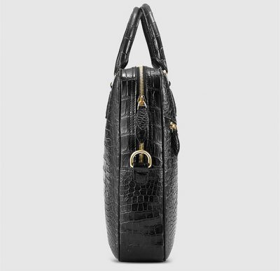 Fashion Crocodile Bag, Luxury Crocodile Briefcase for Men-Side