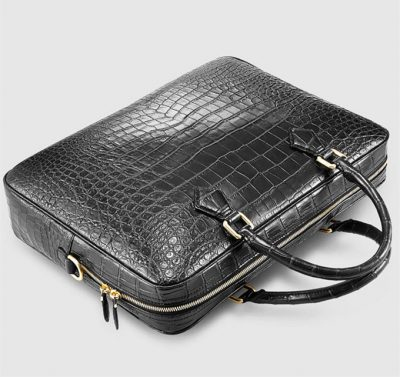 Fashion Crocodile Bag, Luxury Crocodile Briefcase for Men-Top