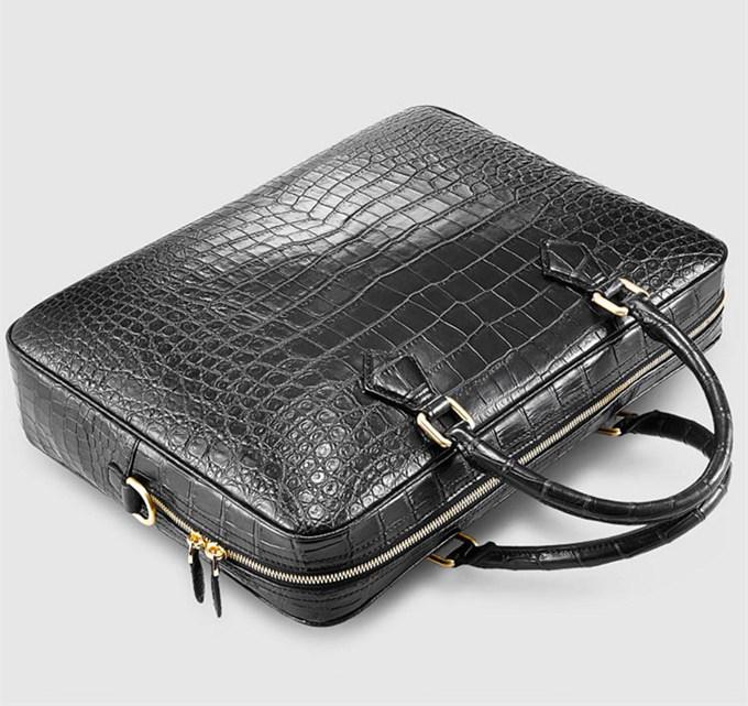 Fashion Crocodile Bag Luxury Crocodile Briefcase For Men