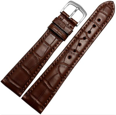 Genuine Alligator Leather Watch Band-Brown