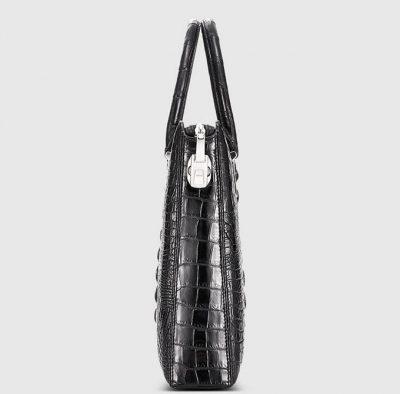 Genuine Back Crocodile Bag,Crocodile Business Bag for Men-Side