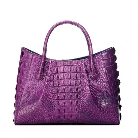 Genuine Crocodile Handbag, Crocodile City Bag-Back