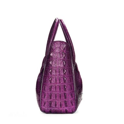 Genuine Crocodile Handbag, Crocodile City Bag-Side