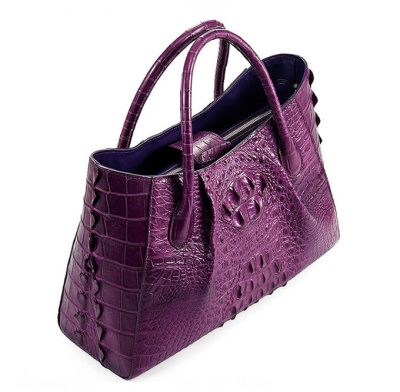 Genuine Crocodile Handbag, Crocodile City Bag-Top