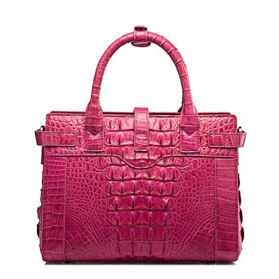 Genuine Crocodile Handbag, Crocodile Crossbody Bag-Back