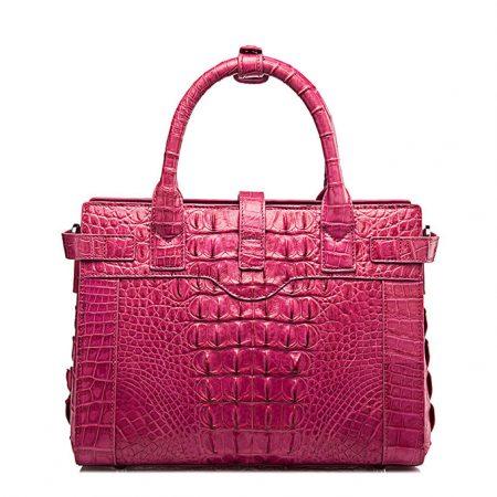 Genuine Crocodile Handbag, Crocodile Crossbody Bag-Back