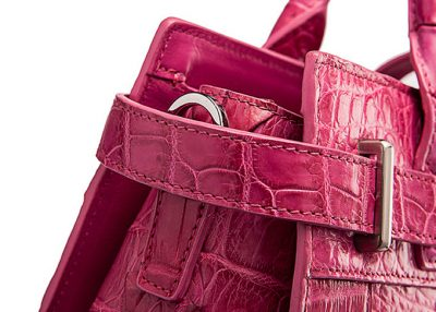 Genuine Crocodile Handbag, Crocodile Crossbody Bag-Detail