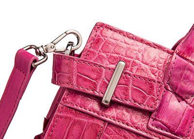 Genuine Crocodile Handbag, Crocodile Crossbody Bag-Details