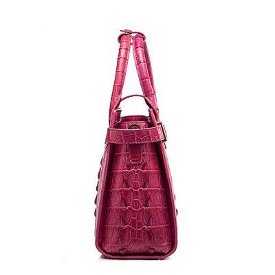 Genuine Crocodile Handbag, Crocodile Crossbody Bag-Side