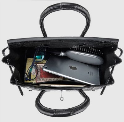 Genuine Crocodile Handbag-Inside
